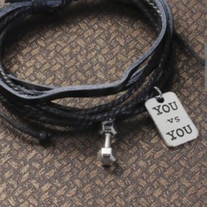 Jewelry - YOU vs YOU Weight Bracelet -Cute Dumbbell Charm